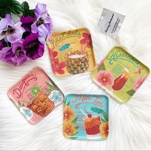 Tommy Bahama Set of 8 Coasters Tropical Drinks.